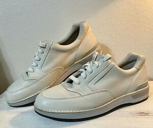 Rockport Prowalker M9004 Cream Beige Leather Walking Shoes Size 12 NEW ~ HUNGARY