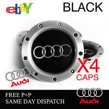 AUDI RS4 BLACK ALLOY WHEEL CENTRE CAPS AUDI TT A1 A2 A3 A5 A4 A6  8D0601165 RARE