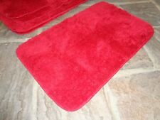 Red washable Oblong mats 30 x 19 inches
