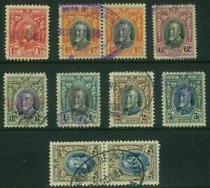 STH RHODESIA - 1931 KGV Marshals part set fiscally used (EM321c)