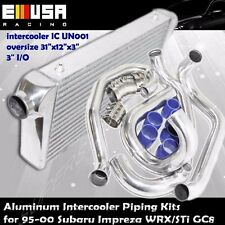 Front Mount Intercooler+Pipings+Silicones+Clamps for 95-00 Subaru Impreza GC8