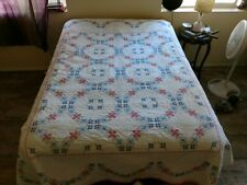 Hand Cross Stitch Quilt size full/double