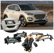 Bumper Fog Lamp LED DRL Daytime Running Lights 2X  For Hyundai Tucson 2019-2020