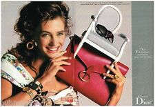 Publicité Advertising 1988 (2 pages) Haute couture sac à main Christian Dior