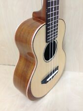 Caraya Solid Spruce Top Concert Ukulele, Custom Beveled Armrest, Natural-UK-23S