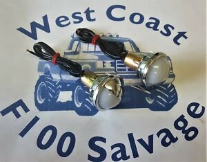 FORD F100 PARTS REPLACEMENT NUMBER PLATE LIGHTS NEW PAIR REPLACEMENT