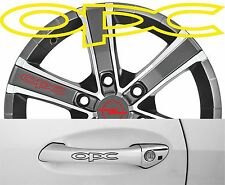 4 x Türgriff- Felgen Aufkleber Opel OPS 002 #1525