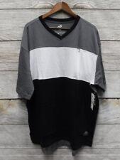Rocawear Mens 2XB Black White & Grey Zipper Pocket Logo Long Shirt New