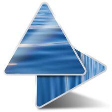 2 x Triangle Stickers 10 cm - Calm Blue Sea Water Ocean Earth  #21262