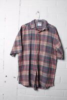 Lacoste Mens Vintage Checked Short Sleeved Shirt - Size 4 - (L-P6)