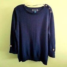 Karen Scott Women Blue Sweater Long sleeve Large