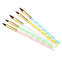 5 x Acrylic Nail Art UV Gel Carving Pen Brush Liquid Powder DIY T1U4
