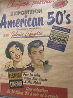 Affiche / Chevignon présente exposition Américan 50's Galerie Lafayette 1988