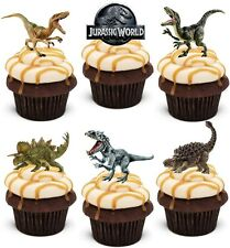 JURASSIC WORLD DINOSAUR *PREMIUM WAFER* edible cup cake toppers *STAND UPS*