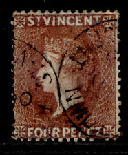 ST. VINCENT SG50, 4d red-brown, USED. Cat £22.