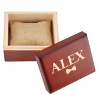 Personalised Wooden Retro Wedding Gift Box Custom Watch Box Groomsmen Xmas Gift