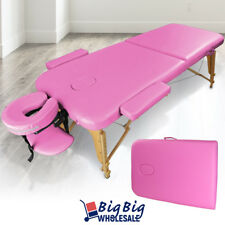 Carry Case Foldable Portable Massage Table Bed Spa Facial Salon Tattoo Pvc Pink