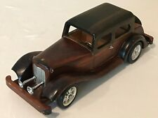 Wood Rolls Royce Wooden Crafted Pretend Play Toy Car