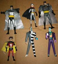 6 action figures Batman, Batgirl, Robin, 2 faced, joker DC Comics