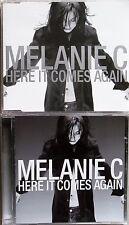 MELANIE C * HERE IT COMES AGAIN * UK CD/DVD SET * HTF! * REASON * SPORTY SPICE