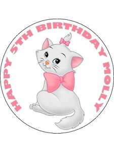 ARISTOCATS MARIE 7.5 EDIBLE ICING BIRTHDAY CAKE TOPPER