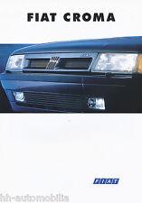 FIAT CROMA prospetto 9/93 8 pag. brochure 1993 auto auto prospetto Auto Europa Italia