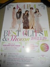 KARA [BEST CLIPS2&Shows] promo POSTER Japan Version Japan Limited!
