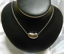 """Tiffany & Co Sterling Silver 925 Elsa Peretti Large 20mm Bean Shape 18"""" Necklace"""