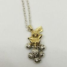 K.Uno x Pokemon Pikachu & Monster Ball Necklace Silver 950 K18