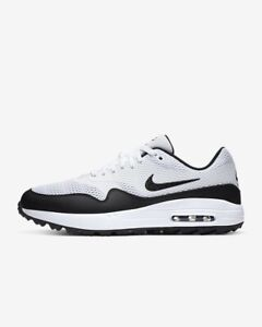 Nike Air Max 1 G Spikeless Golf Shoes White/Black CI7576-100 Men's Size 8.5 New