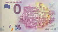 BILLET 0  EURO SAINT JEAN DE LUZ FRANCE   2017  NUMERO 100