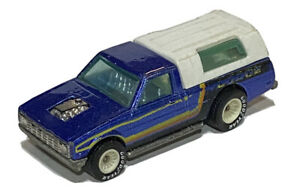 Hot Wheels Dodge D-50 Real Riders Pickup Truck w/ Cap Diecast Mattel Blue VTG 79