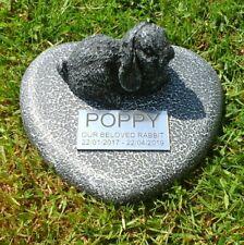 Rabbit Large Pet Memorial/headstone/stone/grave marker/memorial with plaque 10