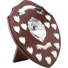 ANNUAL SHIELD HIGH QUALITY WOOD & CHROME 13 YEAR TRIUMPH FREE ENGRAVING TRS14