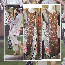 "Pakistani Designer Lawn Shalwar Kameez 3pc Gul Ahmed Readymade 41"" Chest Medium"
