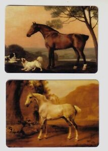 Pair of Single Horses and Dogs -- Modern Wide Swap Playing Cards