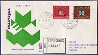 1963 - FDC Venetia - EUROPA - Viaggiata per raccomandata  - n.204It