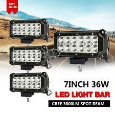4X 7INCH 36W CREE LED WORK LIGHT BAR FLOOD LAMP SPOT BEAM OFFROAD UTE TRUCK 4WD