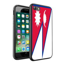 Nepal Flag Printed Design Hard Skin Case Cover for Various Phone Models - 0123