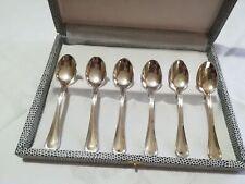 servizio 6 cucchiaini caffè-thè placcati argento silver plated NUOVI