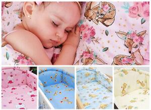 2 Pcs Baby Duvet Cover Pillowcase Bedding Set For Cot Bed 100% Cotton