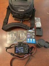 CANON Rebel EOS SL1 Digital Camera With EF-S 18-55 Carry Bag 64gb Sdxc Extras