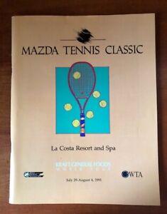 1991 Mazda Tennis Classic Program LaCosta Resort and Spa -Women's Tennis