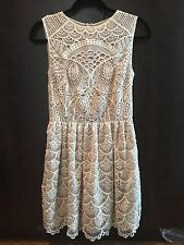 NWT VALENTINO RED Detailed Lace Off White Dress 40/4