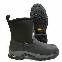Timberland PRO Stockdale Black Leather Alloy Toe Waterproof Work Boot A1AXG001
