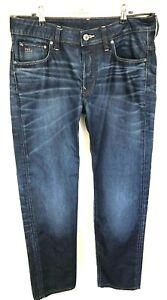 G-STAR RAW Men's Dark Wash Button Fly 3301 Jeans Size 32 x 34