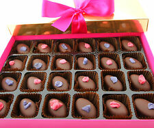 Chocolate Rose and Violet Creams - 240g box of chocolate rose & violet fondants