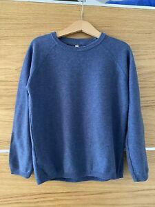 M&S Boys Lightweight Knit Jumper Sweater 6-7 Years Blue