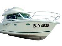 Bootskennzeichen Bootsnummer 15cm Höhe FOIL00055
