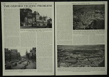 The Oxford Traffic Problem Proposed Relief Road 1955 3 Page Photo Article
